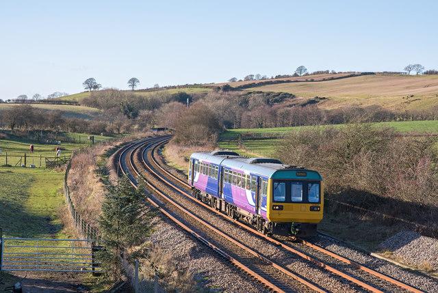 Trains at Bullgill, Cumbria - November 2017 (3)