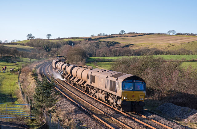Trains at Bullgill, Cumbria - November 2017 (4)
