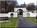 NJ8128 : Lodge Gate, Meldrum House by Stanley Howe