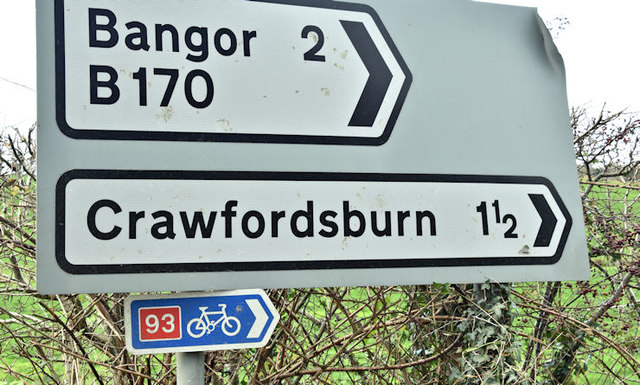 National Cycle Network sign, Ballyleidy, Bangor (November 2017)