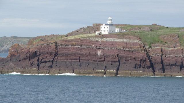 On MV Inishmore - Passing Skokholm Lighthouse