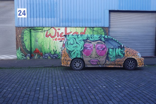 Wicked Campers © Richard Webb :: Geograph Britain and Ireland