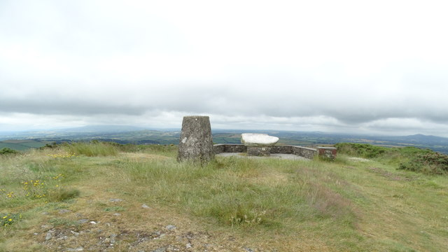 On Slievecolltia, Co Wexford - Trig point