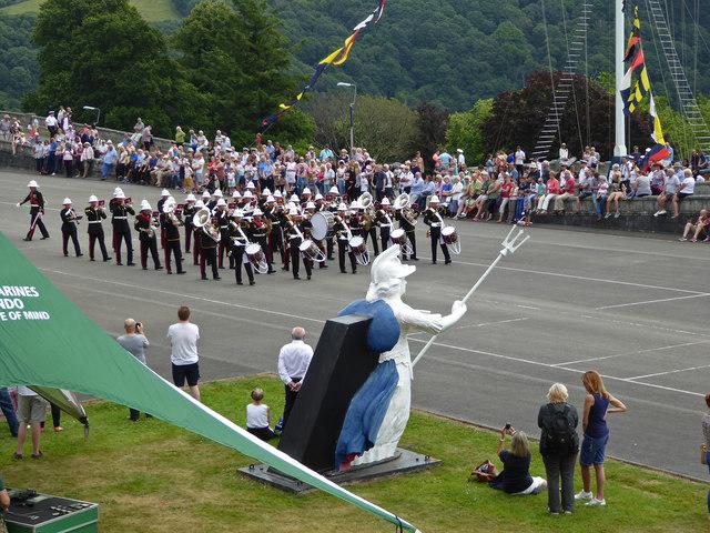 Royal Marines band - Britannia Royal Naval College