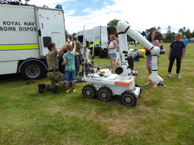 Royal Navy Bomb Disposal display