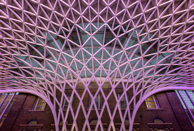 Roof at King's Cross Station, London