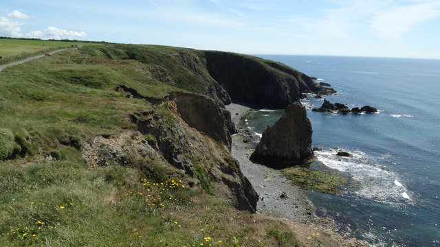 View E along coast at Tankardstown (North) Engine House, Co Waterford