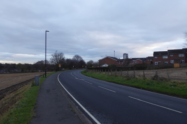 Wetherby Road on the edge of Tadcaster