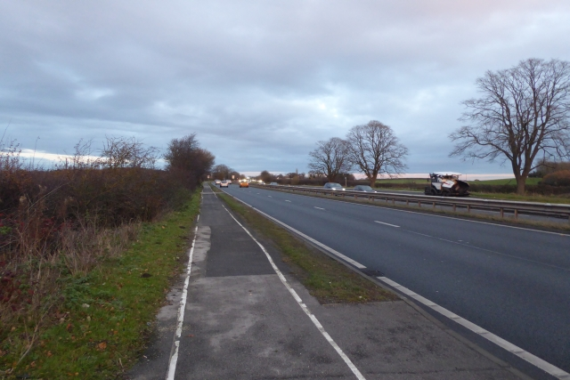 Eastbound cycle path