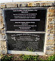 SH9980 : 21st century plaque and 20th century plaque in the west of Rhyl by Jaggery