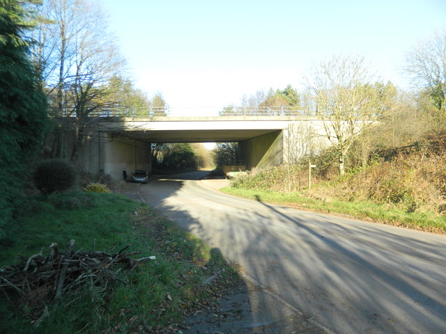 Bridge carrying the M4 over the Hensol to Miskin road