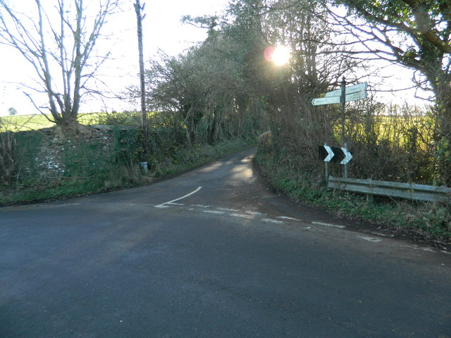Road junction, Hensol