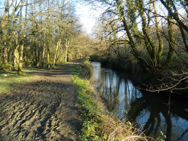 Footpath beside the Afon Clun, Pontyclun