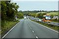 SJ1874 : North Wales Expressway, Layby near Brynford by David Dixon