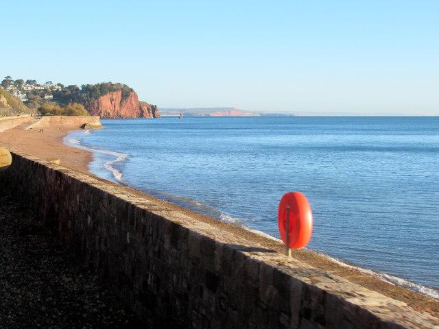 Along the Sea Wall Near Teignmouth