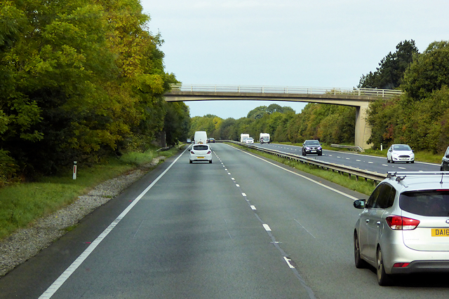 Bridge over the A55, North of Brynford