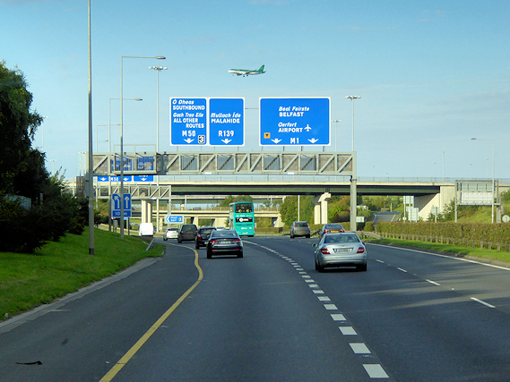 M50 at Junction 3 (Interchange with M1)