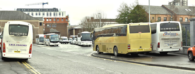 Durham Street coach park, Belfast (December 2017)