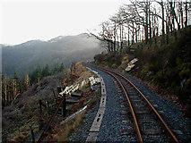 SN7377 : Vale of Railway foot crossing by Coed Tynycastell by John Lucas