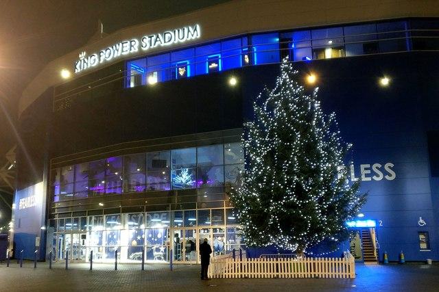 Christmas tree at the King Power Stadium