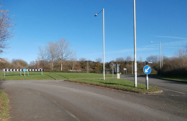 Roundabout near Miskin