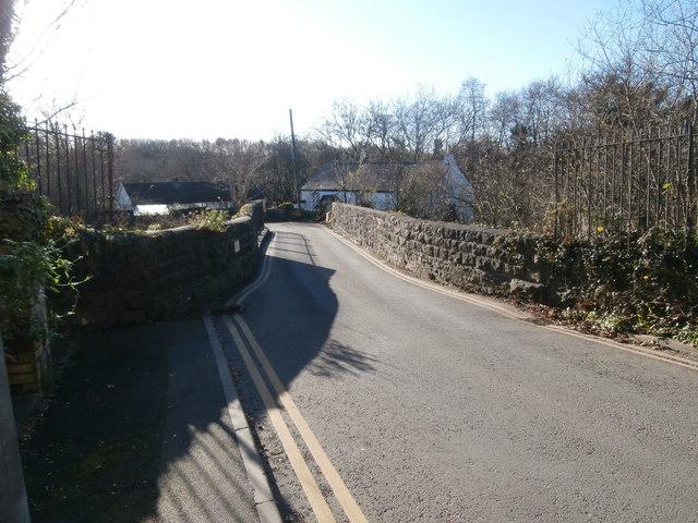 Road bridge over the railway, Miskin