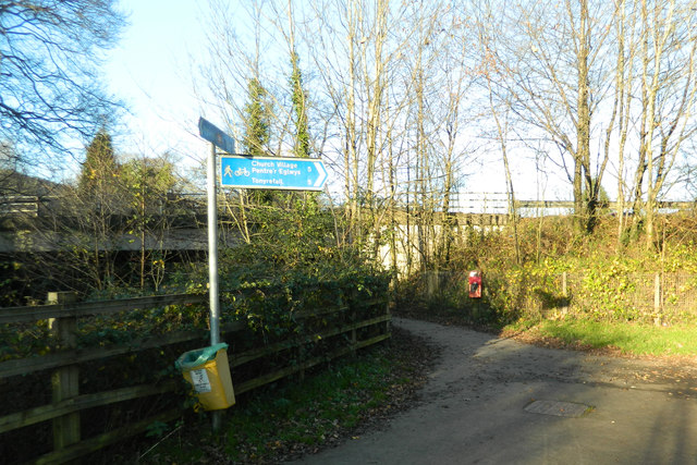 Footpath and cycle track near the A473, Talbot Green