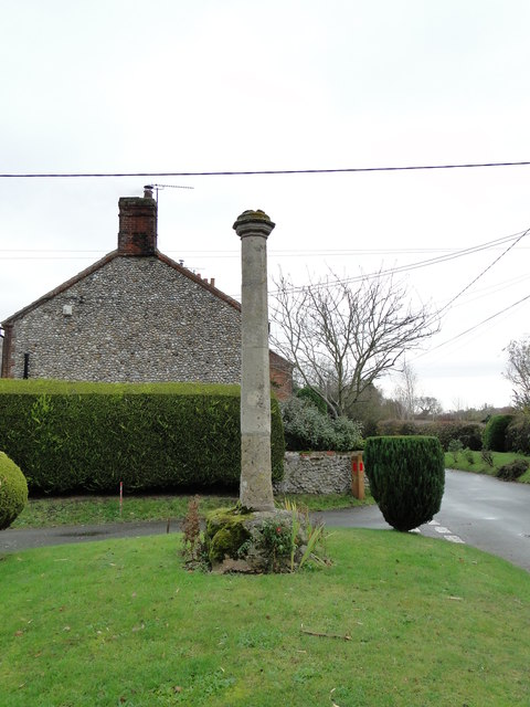 The old preaching cross at Sharrington
