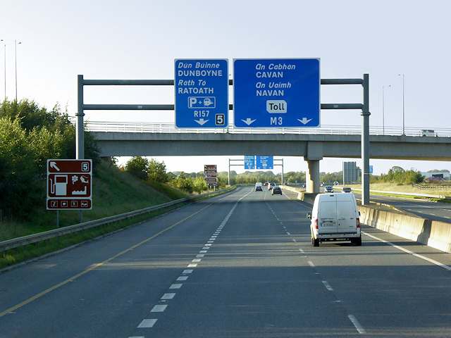 Sign Gantry over the M3, North of Clonee