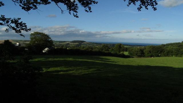 View NE across fields from Cullen Upper, Co Wicklow