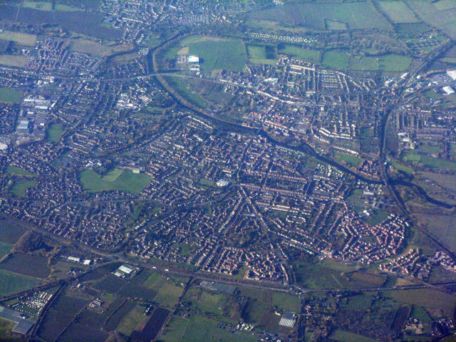 Evesham from the air