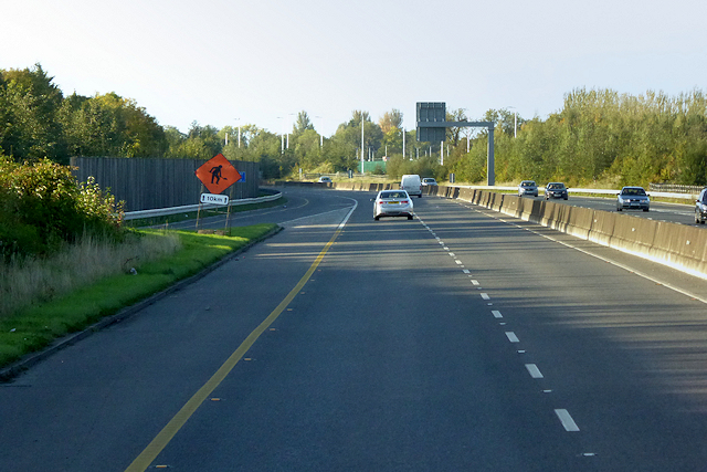 Entry Sliproad at Junction 5 of the Northbound M3