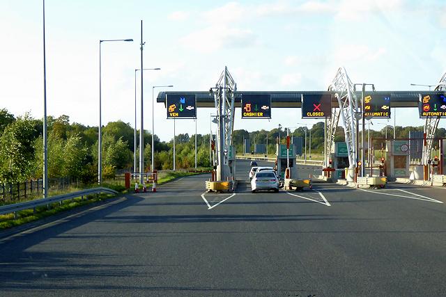M3 Toll Booths near Black Bull