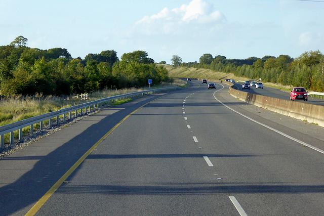 Northbound M3 near Raynestown