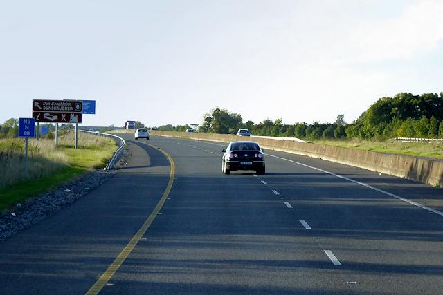 Northbound M3 near Dunshauglin