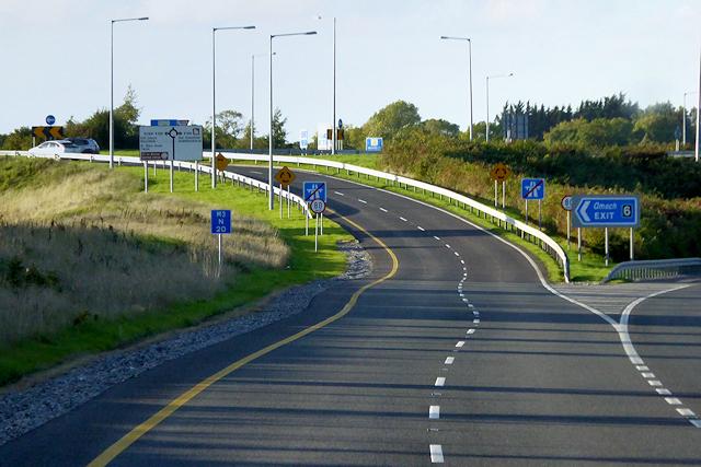 M3 Motorway, Exit Sliproad at Junction 6