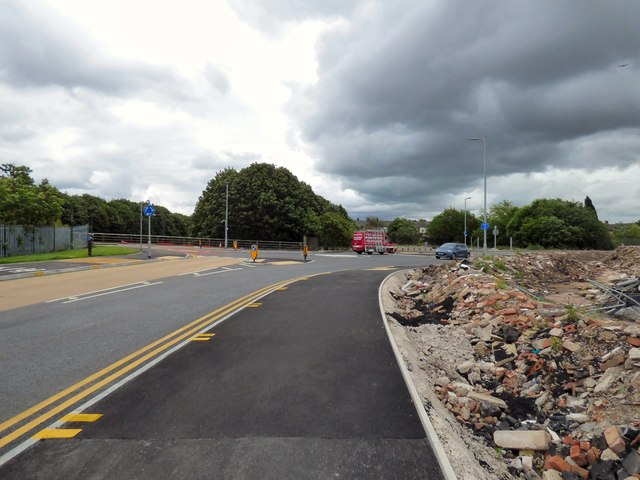 Roundabout on Denton Link Road
