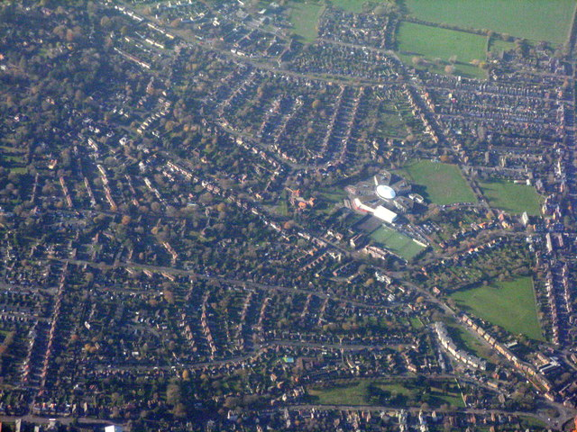 Newbury from the air