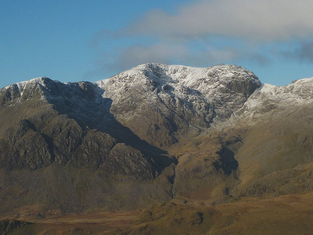 Snow on Scafell