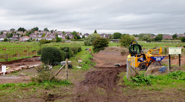 Stafford Riverway Link progress near Baswich