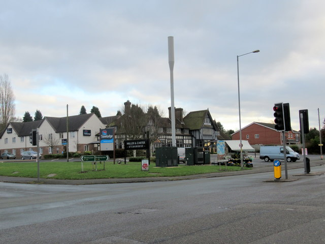 Corner of A38 Birmingham Road and Braces Lane  Bromsgroveb