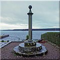 NJ0364 : Findhorn Mercat Cross by valenta