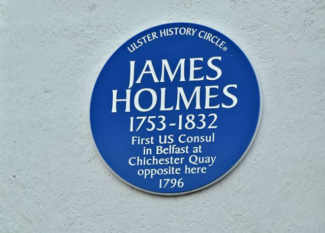 James Holmes plaque, Belfast (December 2017)