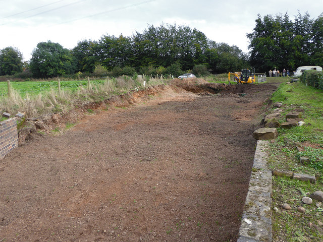 Re-excavated canal basin near Baswich, Stafford