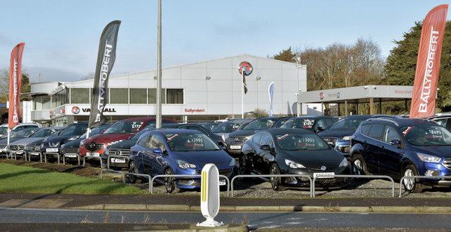 Car showroom, Ballyrobert, Bangor (December 2017)
