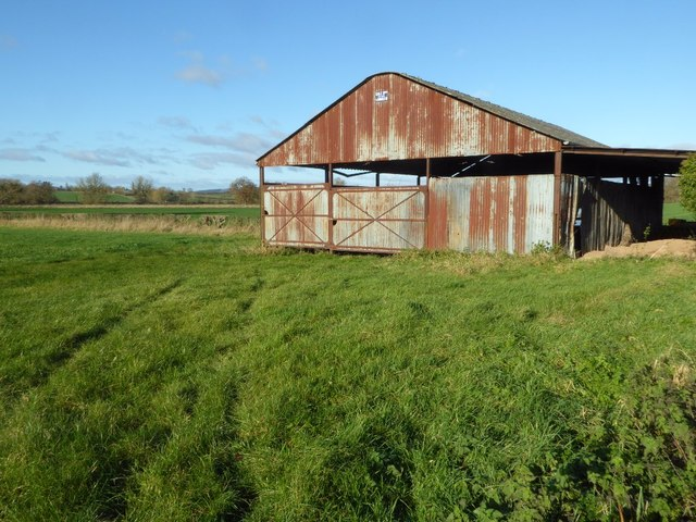 Shed in the corner of a field