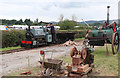 SO8040 : Welland Steam Rally - road-making display by Chris Allen