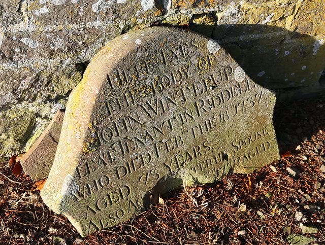 An old gravestone at Lilliesleaf Parish Churchyard