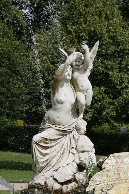Left side statues