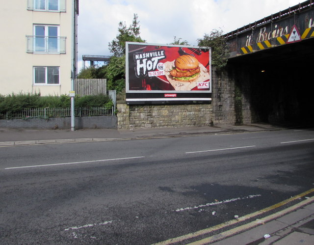 Nashville Hot advert, Clare Road, Cardiff
